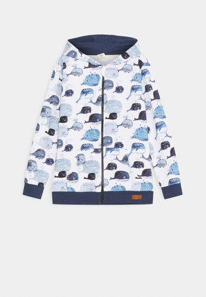 ZIP THROUGH JACKET BABY WHALES UNISEX - Zip-up hoodie - light blue