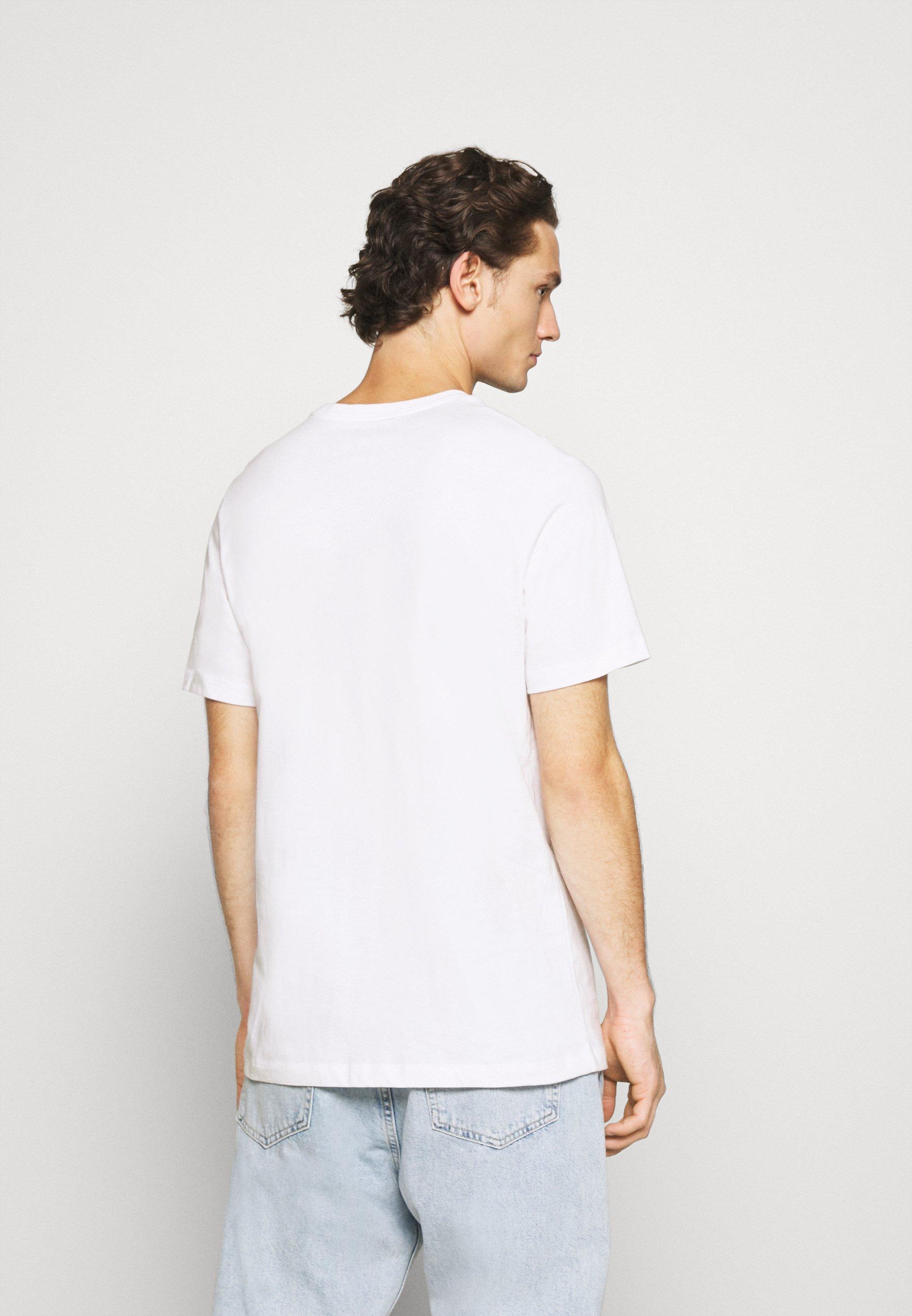 Nike Sportswear TEE JUST DO IT - Print T-shirt - white/game royal/university red lXGcE