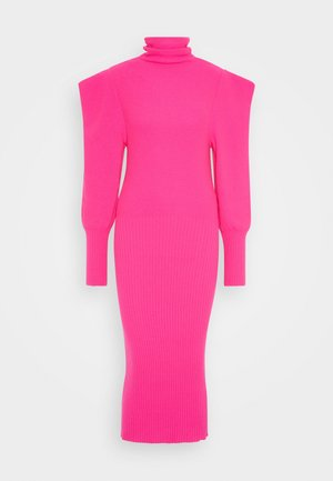 Gebreide jurk - fuchsia