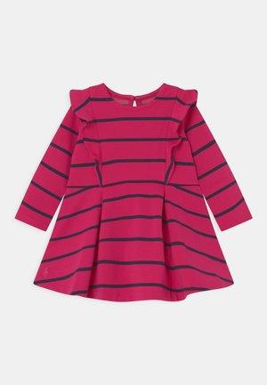 RUFFLE DAY DRESS SET - Jersey dress - sport pink/hunter navy
