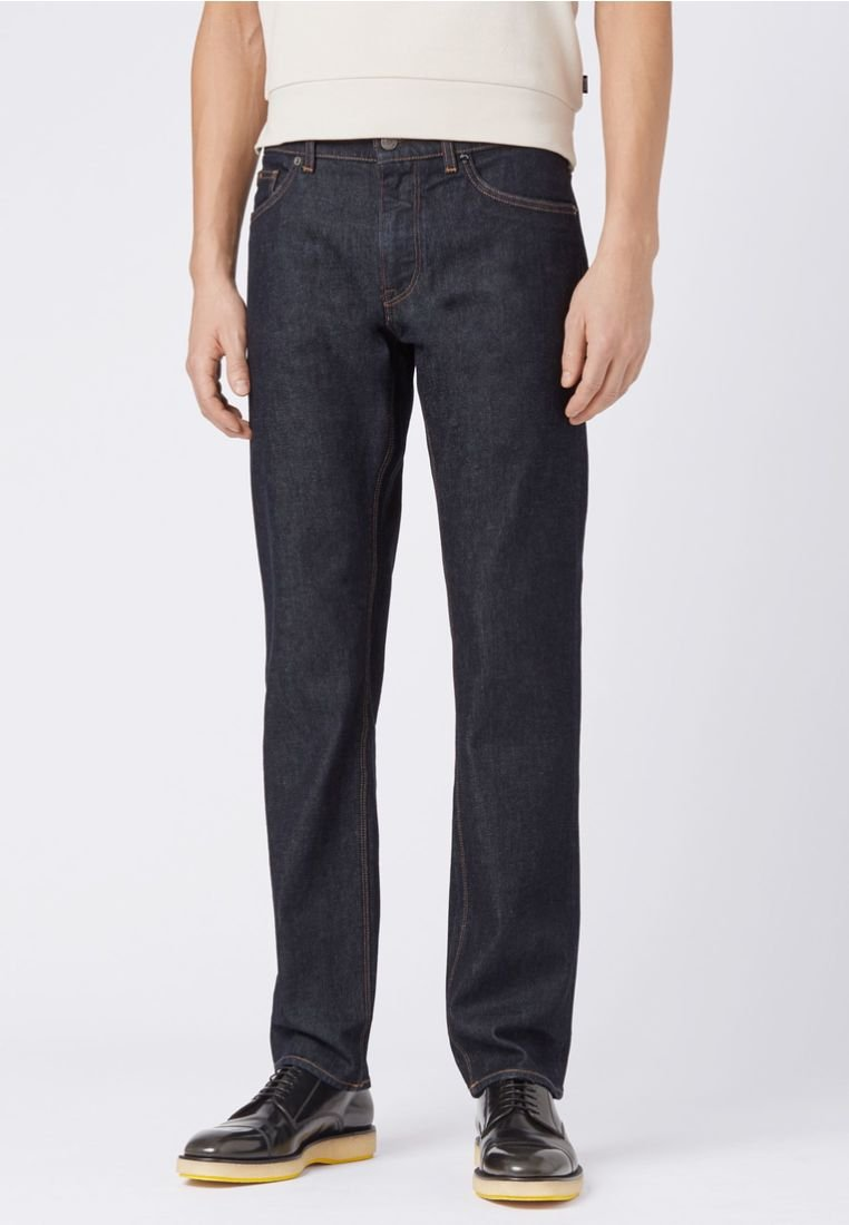 BOSS - MAINE - Straight leg jeans - dark blue