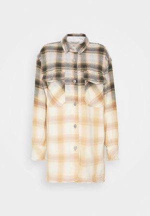 ANNELI PLAID JACKET - Bomberjakke - off white