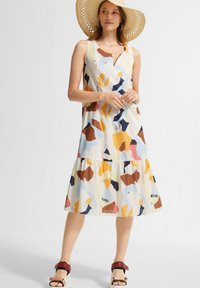 comma casual identity - Day dress - blush abstract geo - 1