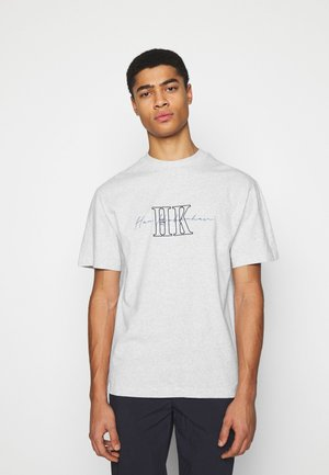 BOXY TEE - Print T-shirt - grey melange