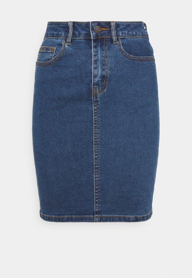 VMHOT NINE PENCIL  - Pencil skirt - medium blue denim