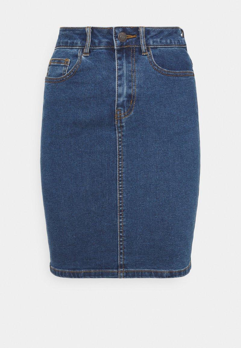 Vero Moda Petite - VMHOT NINE PENCIL  - Falda de tubo - medium blue denim