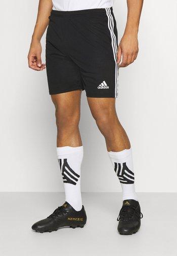SQUADRA 21 - Korte broeken - black/white