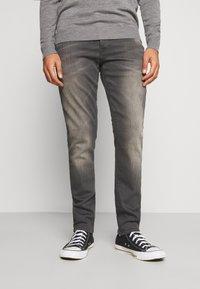 G-Star - 3301 STRAIGHT TAPERED - Straight leg jeans - slander grey  superstretch - 0