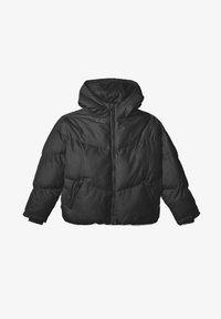 Stradivarius - OVERSIZE - Winter jacket - black - 4