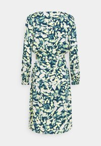 mine to five TOM TAILOR - DRESS PRINTED MIDI - Shirt dress - navy/mint - 1