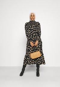 Glamorous - MODESTY SMOCKED HIGHNECK MAXI DRESSES WITH LONG SLEEVES - Maxi dress - black/sand - 1