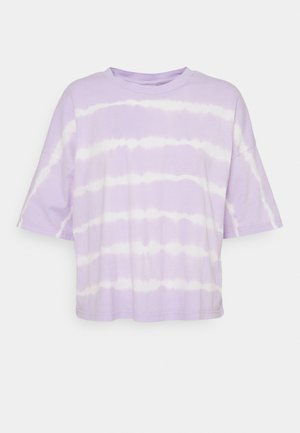 NMBUSTER TIE DYE - T-shirt con stampa - pastel lilac