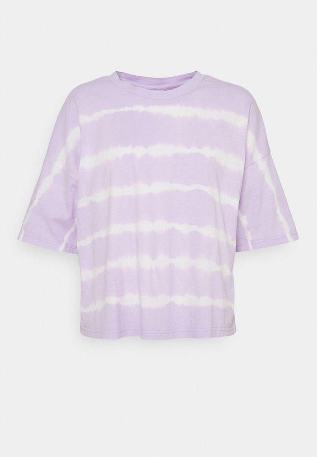 NMBUSTER TIE DYE - T-shirts print - pastel lilac