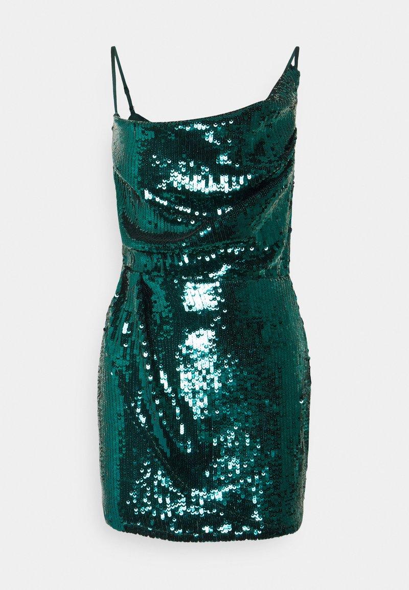 Missguided Petite - COWL NECK MINI DRESS - Cocktail dress / Party dress - teal