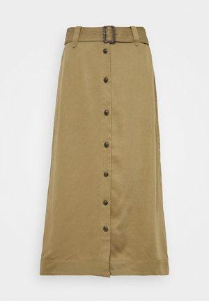 FRONT MIDI - Pencil skirt - acorn