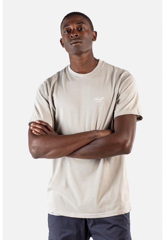 REGULAR LOGO - Basic T-shirt - stone