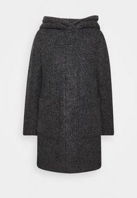 BOUCLE COAT WITH HOOD - Classic coat - light tarmac grey melange