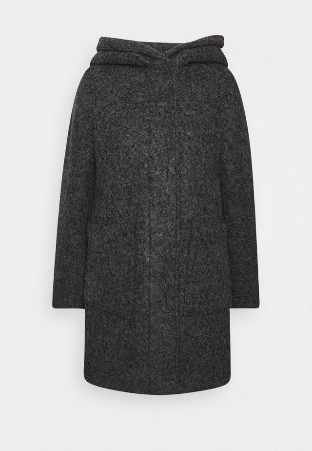BOUCLE COAT WITH HOOD - Mantel - light tarmac grey melange