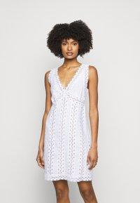 MICHAEL Michael Kors - STRIPED ROPE MINI DRESS - Day dress - white - 0