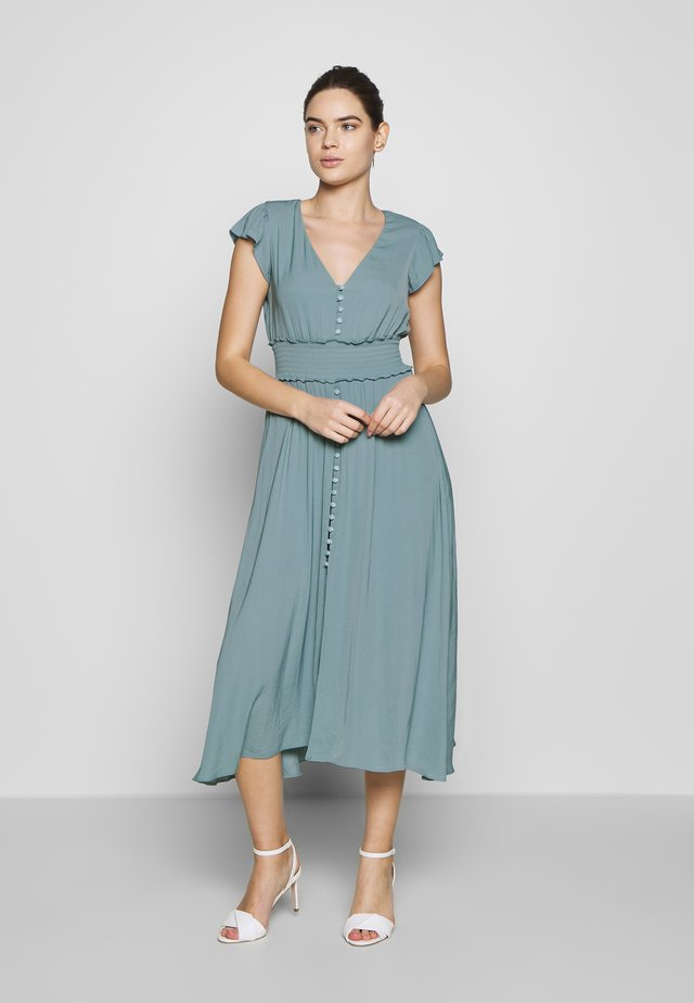 BUTTON FRONT MIDI DRESS - Shirt dress - jade stone