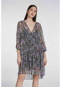 SET - Day dress - black violett - 0