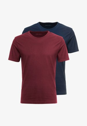 2 PACK - Basic T-shirt - bordeaux