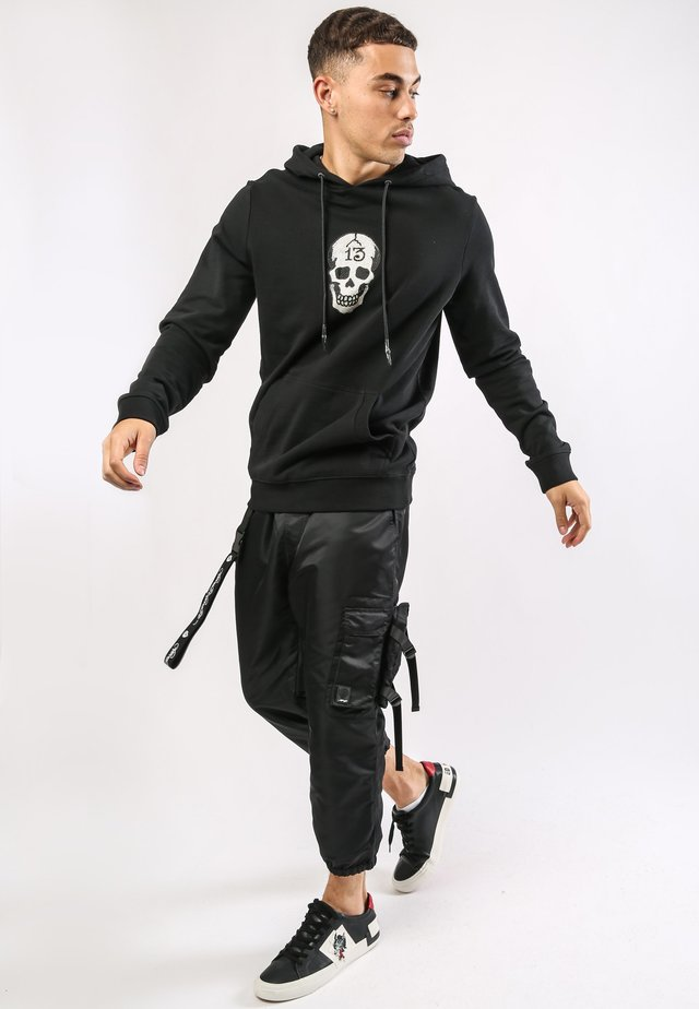 SKULL - Sweat à capuche - black