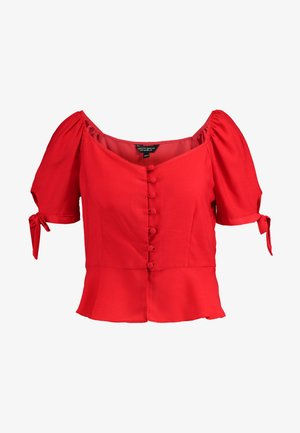 BUTTON DOWN MILKMAID  - Blůza - red