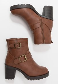 Anna Field Wide Fit - Platform ankle boots - brown - 3