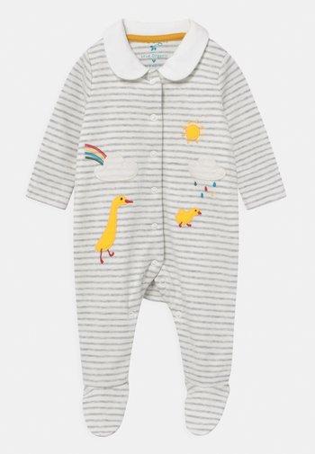 COLLARED BABYGROW UNISEX - Sleep suit - grey marl