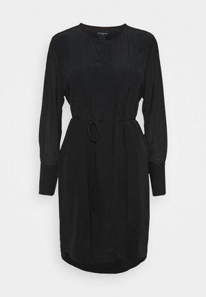 SHEER PLAY DRESS - Shirt dress - black