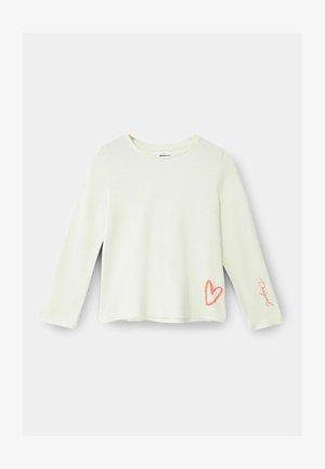 BUTTERFLY - Pitkähihainen paita - white