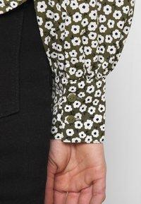 Monki - NALA BLOUSE - Button-down blouse - black dark minibloom dark - 5