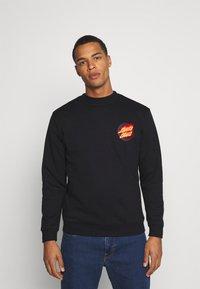 Santa Cruz - FLAMING JAPANESE DOT CREW UNISEX - Sweatshirt - black - 0