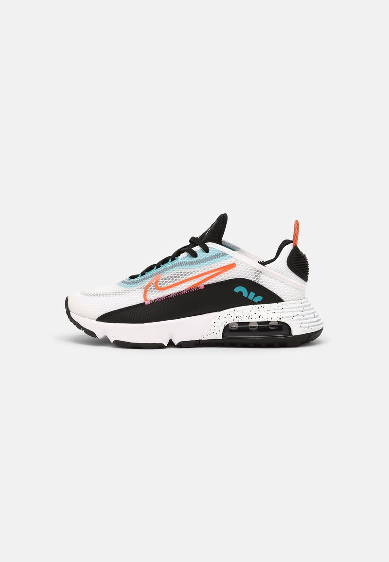 Nike Sportswear - AIR MAX 2090 UNISEX - Tenisky - white/turf orange/black/aquamarine