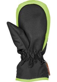 Reusch - BEN  - Mittens - black / neon green - 2