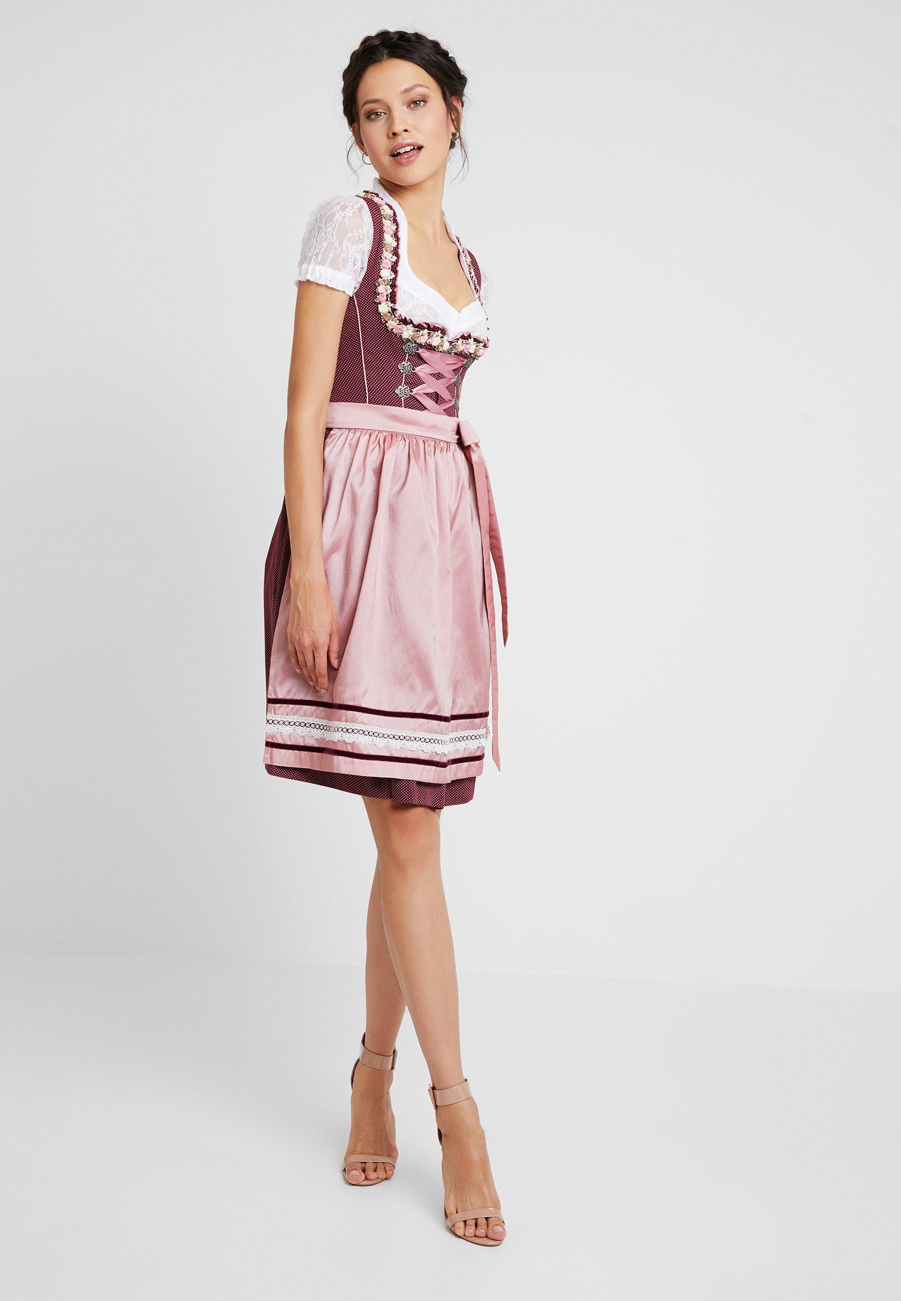 FIRMON Robe Barmaid Dirndl pour Femme Grande Taille