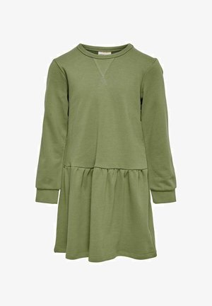 SWEAT - Jersey dress - dusky green