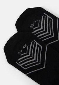Skechers - CUSHIONED FOOTIES 6 PACK - Trainer socks - black - 1