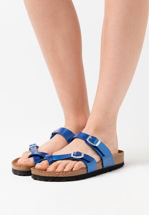 MAYARI - T-bar sandals - electric metallic ocean