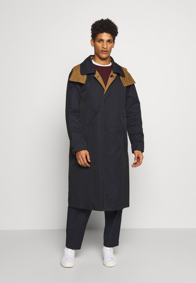 Gloverall - REVERSABLE OVERCOAT - Zimní kabát - navy