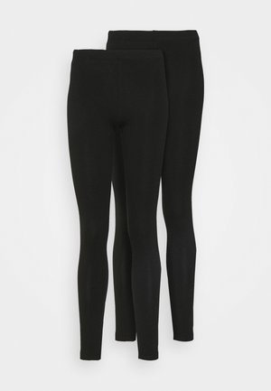 PCMAJA LEGGING 2 PACK - Leggings - Trousers - black
