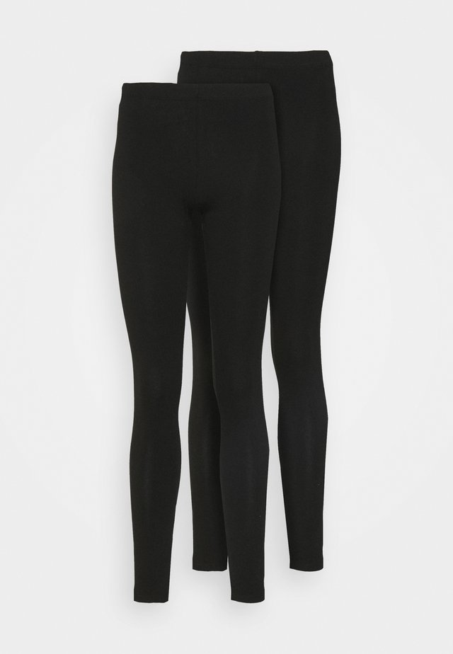 PCMAJA LEGGING 2 PACK - Leggings - Trousers - black