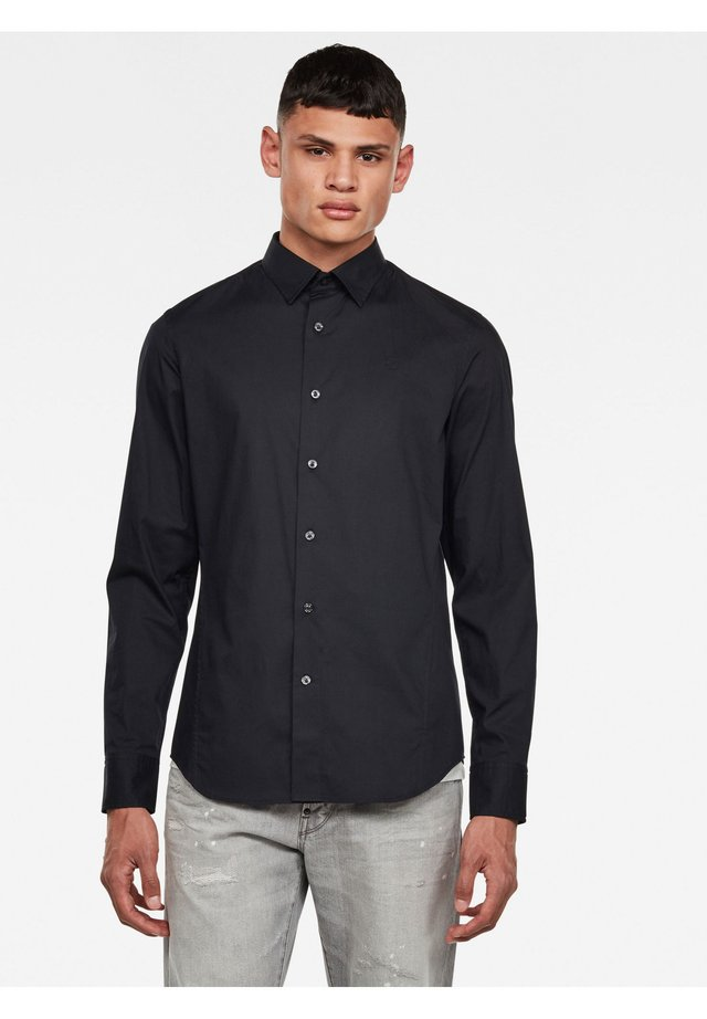 DRESSED SUPER SLIM SHIRT L\S - Shirt - dk black