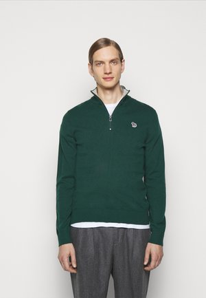 MENS ZIP NECK ZEBRA - Jumper - green