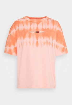 SUMMER TIE DYE TEE - T-shirt print - sweet peach/multi