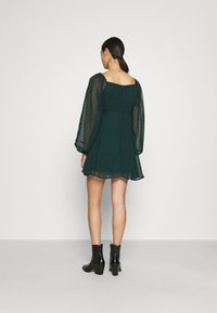Missguided - MILKMAID SKATER DRES DOBBY - Day dress - dark green - 2