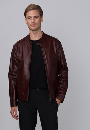 Leather jacket - bordeaux