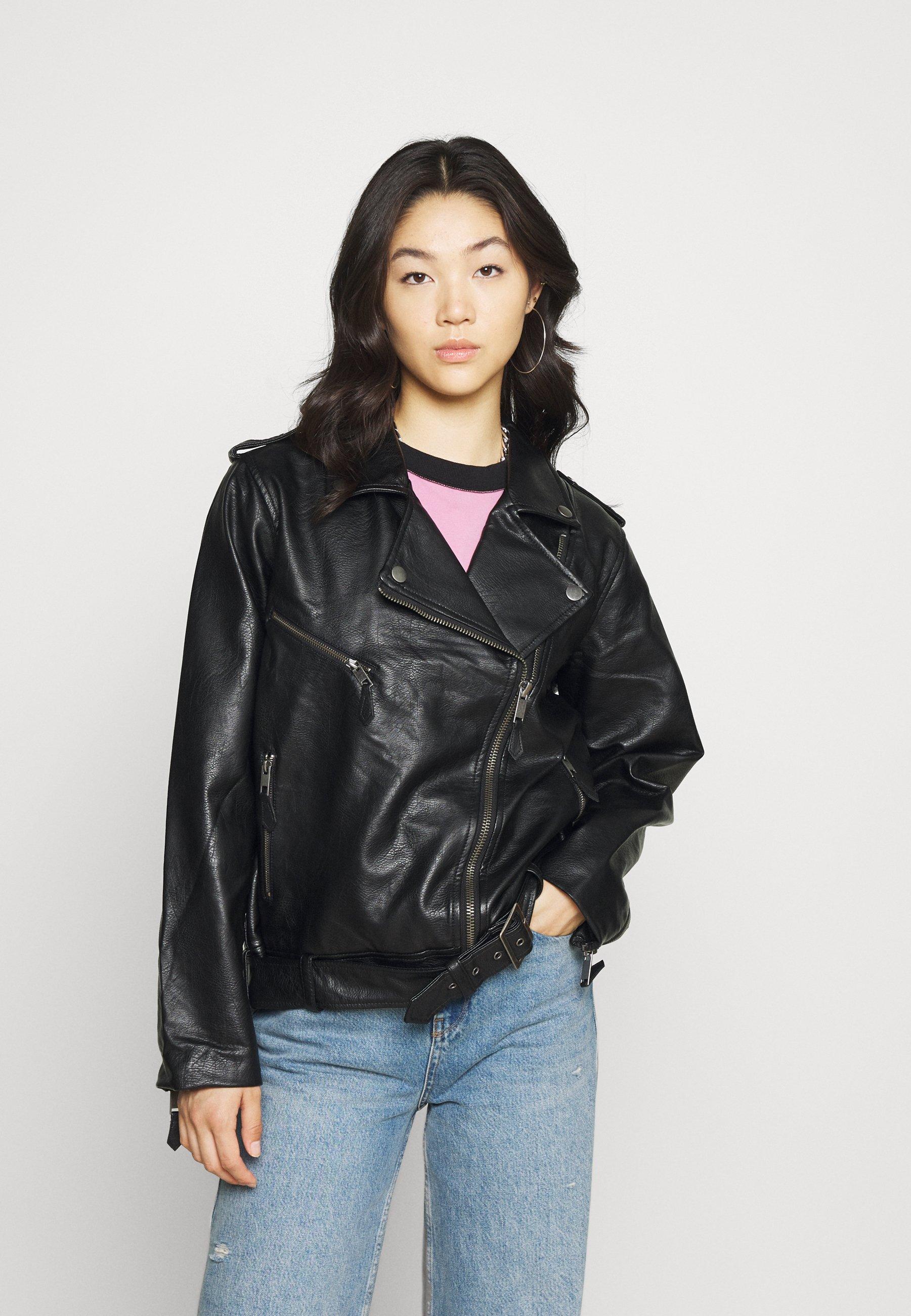 Women VEGAN OVERSIZED BIKER  - Faux leather jacket