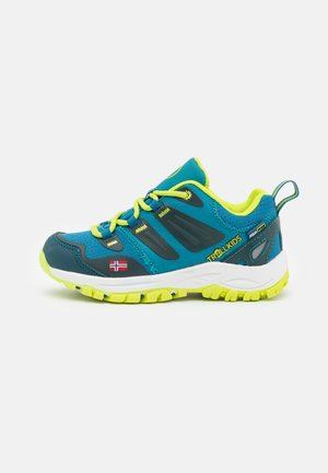 KIDS RONDANE LOW UNISEX - Hiking shoes - petrol/lime